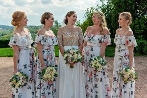 Garden wedding Florence - garden themed bridesmaids dresses