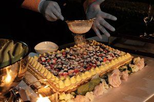 Garden wedding Florence - italian traditional marriage cake millefoglie