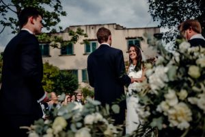 Classy wedding in florence - bride and groom during the ceremony
