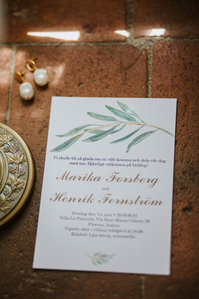 How long plan destination wedding - wedding invites from marika and henrik