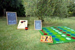 wedding lawn games - Set 2 games - in a garden