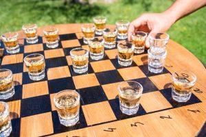wedding lawn games - dama drinks on a barrel Spirito Toscano