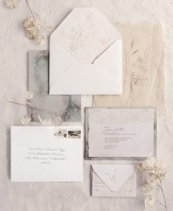 wedding paper - luminous waters