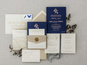 wedding paper - blue navy