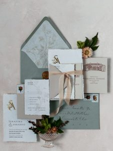 wedding paper - cascading blooms