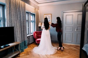 About Adelamour Bridal Shop - boho wedding gown - wedding dress Janet