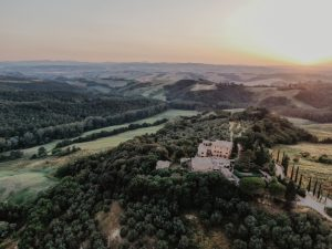 Katia Casprini - drone wedding - view of the tuscan countryside