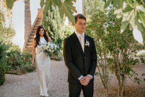 sparkling destination wedding  -  first look