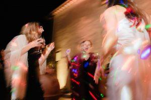 sparkling destination wedding - dancing after the cake