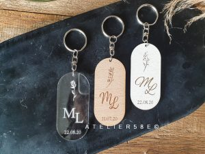acrylic wedding signs - save the date personalized keychain