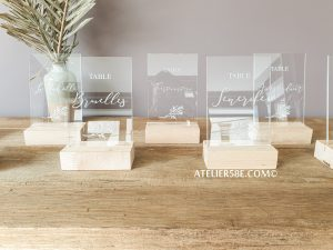 acrylic wedding signs - Wedding table numbers acrylic wedding signs
