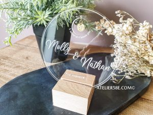 acrylic wedding signs - round wedding welcome sign