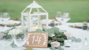 wooden wedding signs - calligraphy numbers for the dinner table