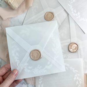 stationery design - personalised wedding envelopes