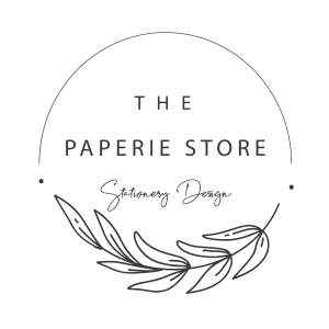 stationery design - logo paperie store