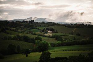 stress free destination wedding - san gimignano countryside views