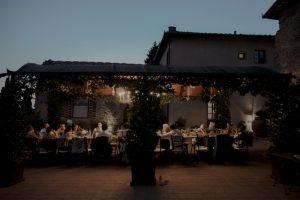 stress free destination wedding - wedding reception at borgo san petrognano