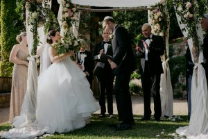wed in florence - romantic Jewish wedding - crush the glass at the end of the ceremony