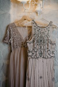 wed in florence - romantic Jewish wedding - sequins and vintage dresses of the bridal party
