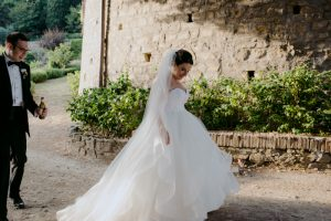 wed in florence - romantic Jewish wedding - bridal gown kleinfield