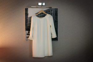 civil elopement florence - sixties inspired short wedding dress
