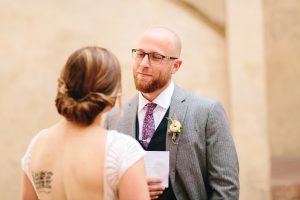 glamorous elopement Italy - exchange of vows after the civil ceremony