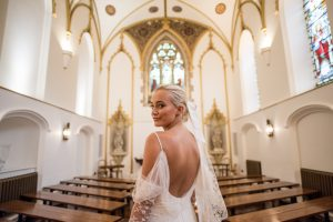 wedding makeup artist -  Alexandra Edgar - shimmery eyes, simple mascara, and a nude lip color