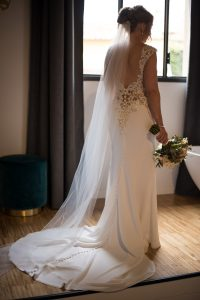 Scottish wedding - Wed in Florence - mermaid bridal gown with long trail