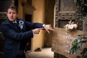 Scottish wedding - Wed in Florence - welcome sign