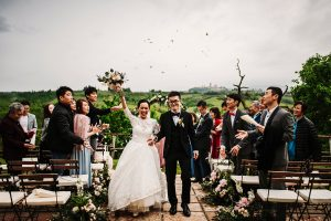 chinese wedding tuscany - wed in florence - end of the ceremony