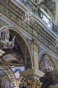 seaside wedding Italy - details of the baroque church