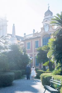 seaside wedding Italy - gardens in santa margherita ligure