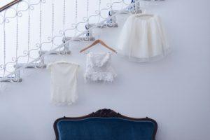 seaside wedding Italy - bridal gown