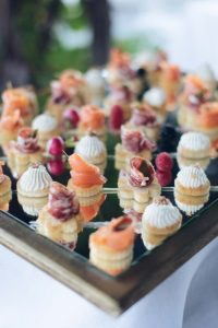 seaside wedding Italy - italian canapees and finger food