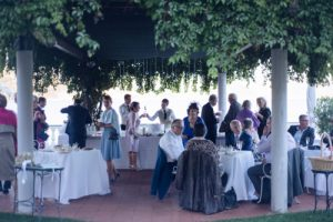seaside wedding Italy - guests at the aperitif