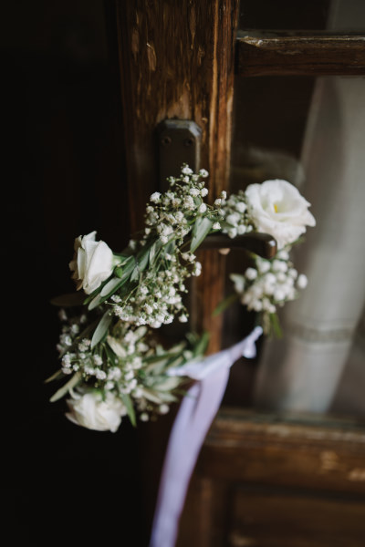 organic wedding - flower crown