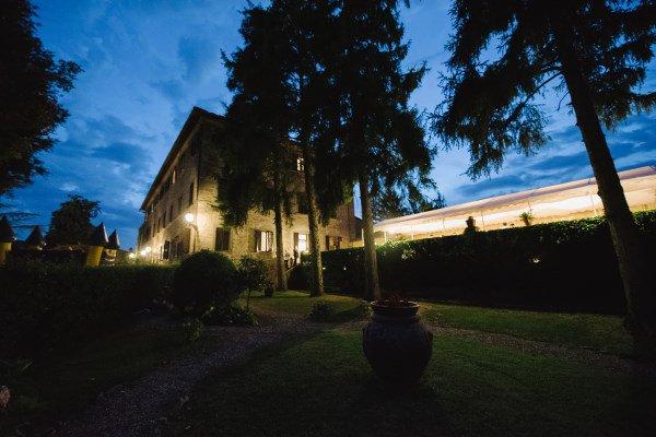 organic wedding - venue in chianti tuscany at night