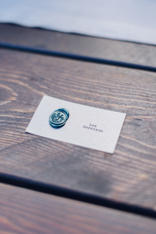 simple wedding - monogrammed place card